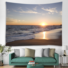 Tapestry Wall Hanging Sea Wave Sea Coast Beach Series Tapestry Sunrise Sunset Tapestry for Bedroom Home Dorm Decor