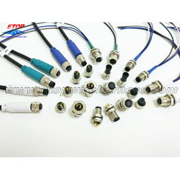 M8 waterproofing IP67 connectors overmolding