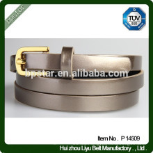 Fashion PU Thin Belt for Woman/Cintos de PU Magro
