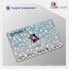 Sobreposição de holograma personalizado cartão de identificação com personalizar o tamanho do logotipo como 84 * 52 MM