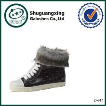 botas de lluvia de corte bajo botas de lluvia de caucho alto tobillo D-615