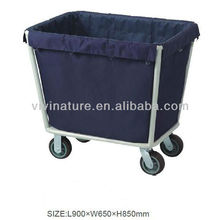 Canvas Material Hotel Laundry Storage Bags with wheels