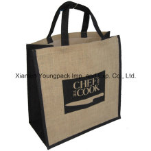 Advertising Promotional Custom Logo Printed Large Reusable Jute Carry Bag