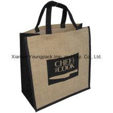 Publicité Publicitaire personnalisé Logo imprimé Grand sac de transport de jute réutilisable