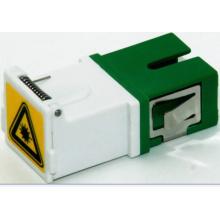 Sc / APC adaptador de fibra óptica com obturador, sem flange