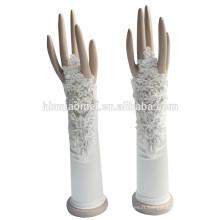 2017 Gant usine vente directe sans doigts gants de mariée avec des fleurs décoration
