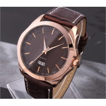 Customised Leather Strap Fashion Men Design Watch