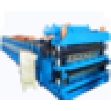 Máquinas de construcción / rollo de doble capa que forma la máquina / hoja de techo corrugado que hace la máquina