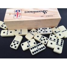 Wholesale Domino de plástico com caixa de madeira