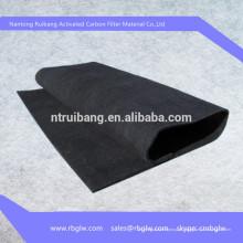 Tecido ativo da fibra do carbono do carvão vegetal do índice de carbono de 100% para sapatas, saco, filtro, uso médico