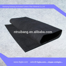 100% содержание углерода активированным углем ткань из углеродного волокна для обуви, сумка, фильтр, медицинского применения