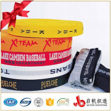 Custom printed jacquard elastic webbing tape ribbon