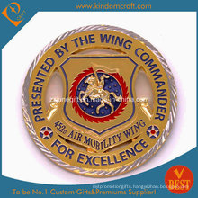 Custom USA Challenge Coin with Two Tone Plated (JN-E014)
