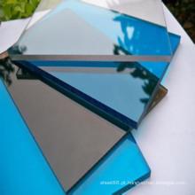 Folha / placa transparentes claras azuis pretas do PVC