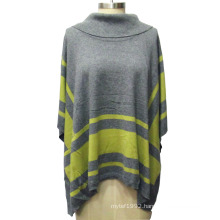 Ladies Turtleneck Cloak Loose Knitted Sweater