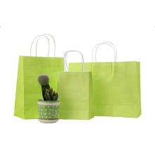 Elegant custom logo matte laminated shopping paper tote bags