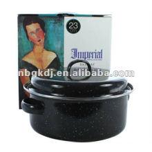 эмаль жаркое горшочке с эмалированной крышкой и SS201or ss304 в