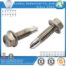 Stainless Steel 304 Hex Tek Screw