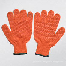Criss-Cross Design PVC Coated Knitted Glove
