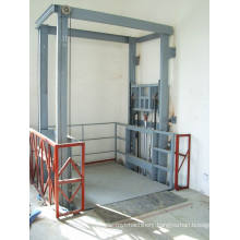 Stationary Hydraulic Guide Rail Lift Platform for Factory