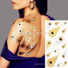 Proveedor que hace material seguro Hermoso pegatina tatuaje espalda impermeable