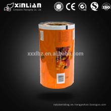 Impresión personalizada de laminado de plástico roll roll de embalaje e impresión