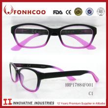 FONHCOO Golden Supplier Double Color Female Plastic Wholesale Reading Glasses 1.5