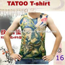 2016 heißes Verkauf sleeveless dünnes Tätowierungst-shirt, Tätowierungkleidung