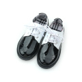 Quanlity PU Leather Black and White Kids Casual Shoes