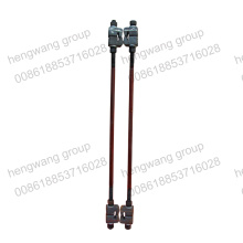 Railway fittings pull rod/gage tie bar