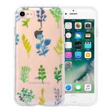 Série de plantas de série Transparente IMD IPhone8 Plus Case
