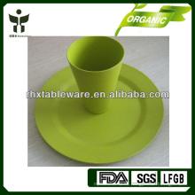 Placa de fibra de bambú biodegradable con taza
