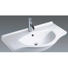 Top Mounted Bathroom Ceramic Vanity Basin (1100)