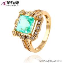La última moda chapada en oro diamante CZ anillo de dedo de la joyería en níquel libre para mujeres -13540