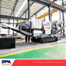 Máquina de la planta de la trituradora de piedra artificial de la industria minera, máquina de trituración móvil del granito