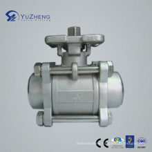 3PC Stainless Steel Bw Ball Valve with ISO5211 Pad