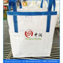 Option de boucle de corde (levage) et sac de jumbo de sac de jumbo en plastique de facteur de sécurité de 3: 1
