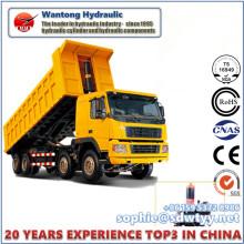 Cilindro hidráulico telescópico de três estágios / quatro / Fiva para caminhão de dump
