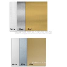 Panneau composite en aluminium brossé couleur dorée Panneau ACP