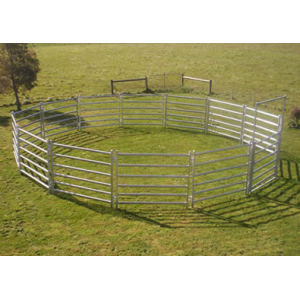 Heavy duty galvanized horse corral panels