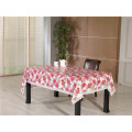 PVC Printed Pattern Style Tablecloth with Backing (TJD110)