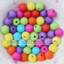 Holiday 8mm Plastic Round Gumball Imitation Swarovski Beads