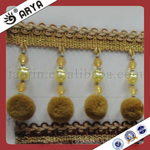 Belle rideau de pomme de style décoratif utilisé pour les accessoires de rideaux, tissu de draperie