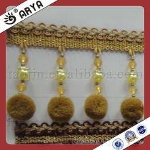 Cortina de pompom decorativo bonito Fringe Usado para acessórios de cortina, tecido de cortina de correspondência