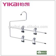 Multifuctional space saving 2-tier chrome plated metal skirt hanger