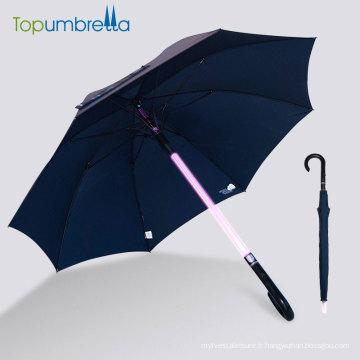 Poignée bâton chargé conduit parapluie lumière