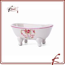 Plato de jabón de cerámica para el baño o el fregadero de la cocina