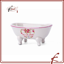 Керамическая мыльница для ванной или кухонной мойки