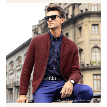 Men′s Cardigan Cashmere Sweater (13brdm003-2)
