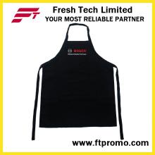 100% Polyester / Baumwolle OEM benutzerdefinierte bedruckte Werbe-Küche Lätzchen Schürze